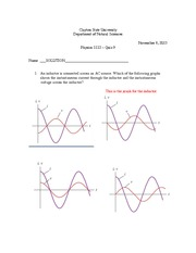 AC Circuits Quiz Solution