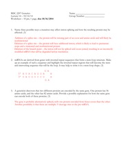 RNA Processing Worksheet Answers