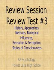 Review Session for Review Test 3