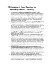 B. 9 Principles of Good Practice for Assessing Student Learning