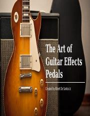 THE ART OF GUITAR PEDALS