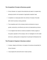 The Competitive Principle of Business growth