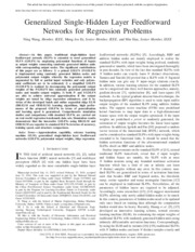Generalized Single-Hidden Layer Feedforward networks for regression problems.pdf