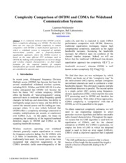 Complexity Comparison of OFDM and CDMA for Wideband Communication Systems