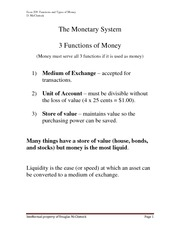 Functions and Types of Money.May23.2012
