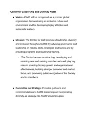 Center for Leadership and Diversity Notes