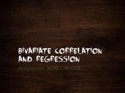 Lab 8 notes -  Bivariate correlation and regression