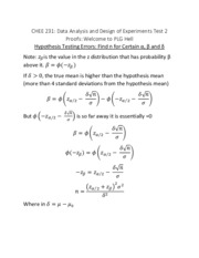 CHEE 231 Test 2 Proofs