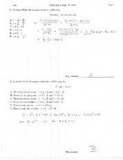 MATH 1341 Fall 2007 Test 1 Solutions