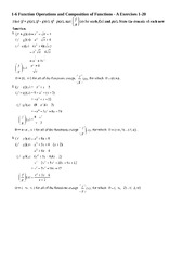 Functions Operations with Answers - 1-6 Function Operations ...