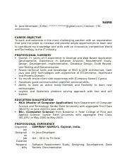 Core-JAVA-sample-resume-2