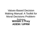 Values Based Decision Making