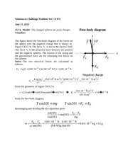 Challenge Problem Session 1 Solution on General Physics