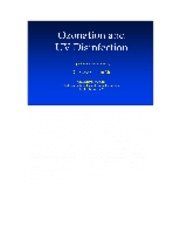 16. Ozonation UV Disinfection