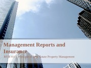 REM 4111_Managing Report and Insurance