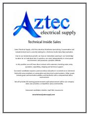 Aztech_Technical_Inside_Sales _Cambridge_161126