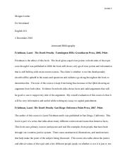 annotated bibliography essay 4