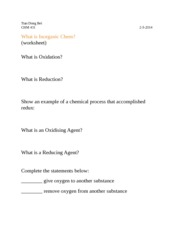 431 Inorganic Chemistry (Practice Questions)