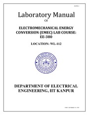Lab Manual of EMEC lab for EE380 aug 2014