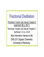 Fractional Distillation lecture