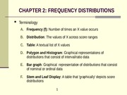 C 2 Frequency Distributions