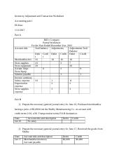 Inventory Adjustment and Transaction Worksheet.docx