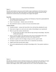 German Essay Questions Final Exam