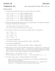 MATH135 - Assignment3 Solutions