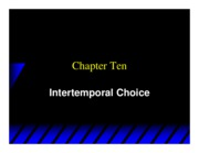 Varian_Chapter10_Intertemporal_Choice
