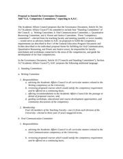 GE Oversight Committee Rough Proposal