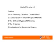 l)Capital Structure Part I