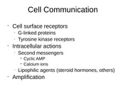 Chapter 11- Cell Communication