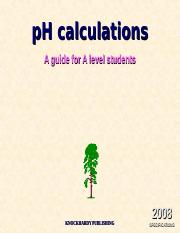 4.5 PH calculations.ppt