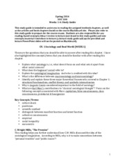 Weeks 1-4  Reading Questions and Concepts(1)