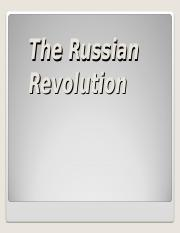 russian revolution for world war i