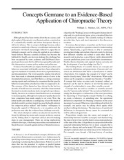RSCH 2501 Week 5 - Meeker, 2000, Concepts Evidence-Based Chiropractic Theory
