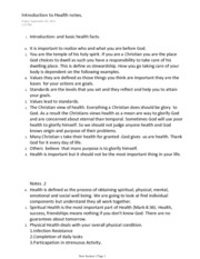 Introduction to Health Notes Sciene cBiology