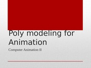 Poly Character Modeling