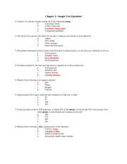 Chapter 2- Sample Test Questions   Answers