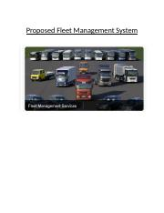 Proposed Fleet Management System