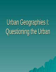 Urban Geographies I 2017-3