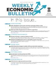 India Weekly Economic Bulletin 7-13 July 2015