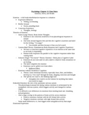 Chapter 12 Class Notes