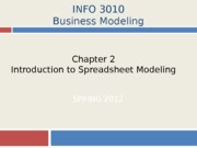 2-Intro to Spreadsheet Modeling
