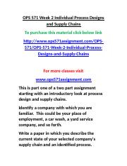 OPS 571 Week 2 Individual Process Designs and Supply Chains.doc
