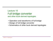 Lecture 15 full bridge other buck