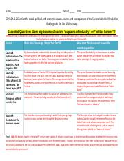 Sample history lab answer key with rubric.docx