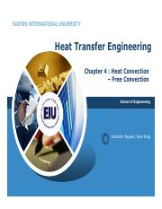 Chapter 4 Heat convection - free convection