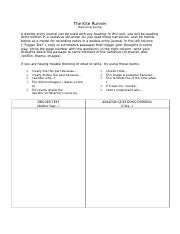 9_Kite Runner Double Entry Journal