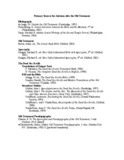 09-0c Judaism Primary Bibliography